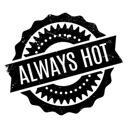 Illustration pour Toujours tampon en caoutchouc chaud. Conception grunge avec des rayures de poussière. Les effets peuvent être facilement enlevés pour un look propre et net. Couleur est facilement changée . - image libre de droit
