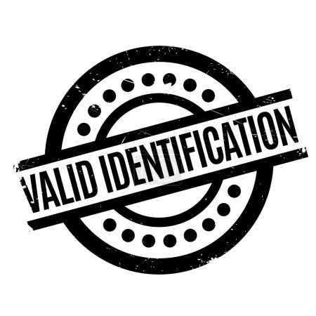 Valid Identification rubber stamp