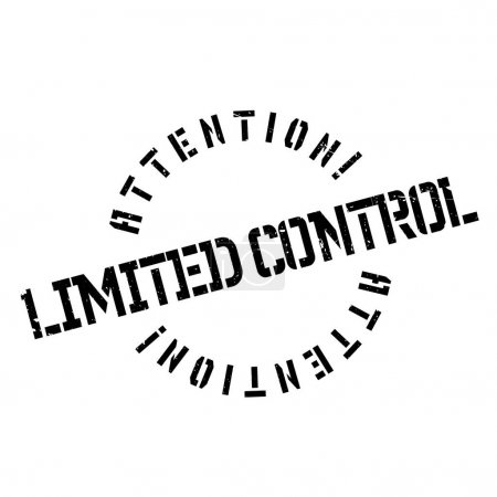Limited Control rubber stamp. Grunge design with d...