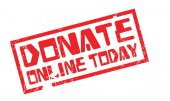Donate Online Today rubber stamp