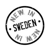 New In Sweden rubber stamp