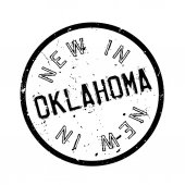 New In Oklahoma rubber stamp