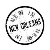 New In New Orleans rubber stamp