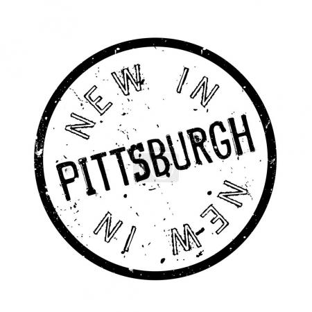 New In Pittsburgh rubber stamp
