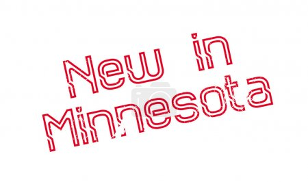 New In Minnesota rubber stamp