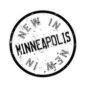 New In Minneapolis rubber stamp Grunge design with dust scratches Effects can be easily removed for a clean crisp look Color is easily changed