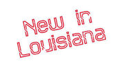 New In Louisiana rubber stamp