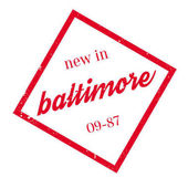 New In Baltimore rubber stamp