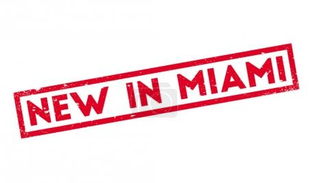 New In Miami rubber stamp