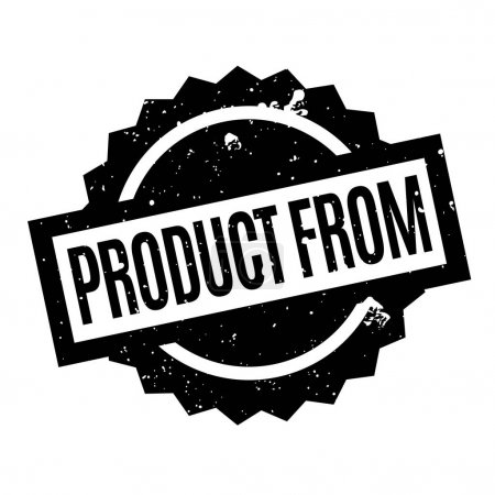 Product From rubber stamp