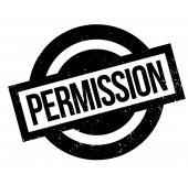 Permission rubber stamp