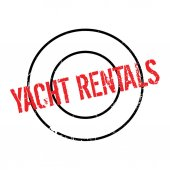 Yacht Rentals rubber stamp Grunge design with dust scratches Effects can be easily removed for a clean crisp look Color is easily changed