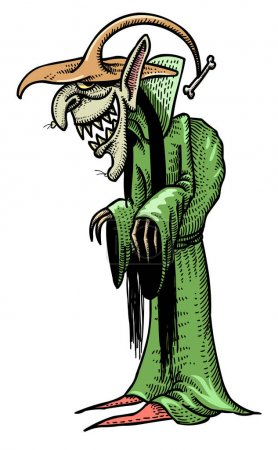 Cartoon image of laughing witch