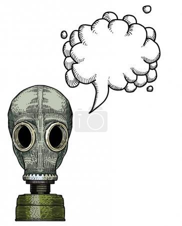 Gas mask-100 Cartoon image