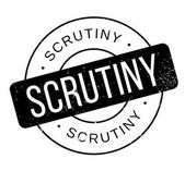 Scrutiny rubber stamp