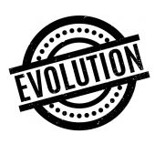 Evolution rubber stamp