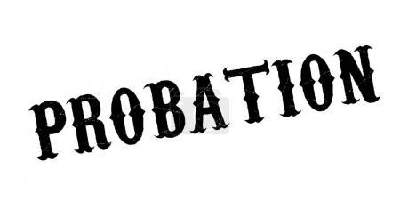Probation rubber stamp. Grunge design with dust sc...