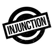 Injunction rubber stamp