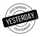 Yesterday rubber stamp