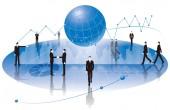 Businessman and grapheconomy image