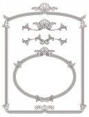 Classic monochrome frame decoration