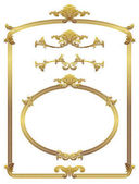 Classical gold frame decoration