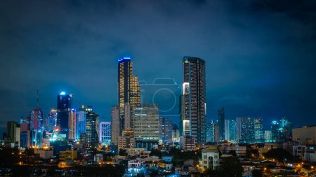 Makai city of Manila with beautiful skyscrapers...