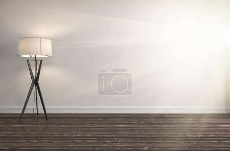 Empty white interior. 3d illustration...