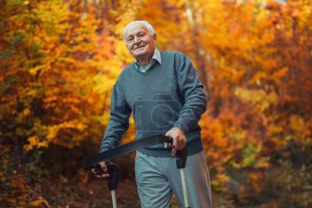 senior man in autumn park