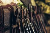 Dark smithy with blacksmith tools