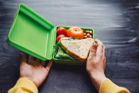 Healthy and tasty lunch box for child.