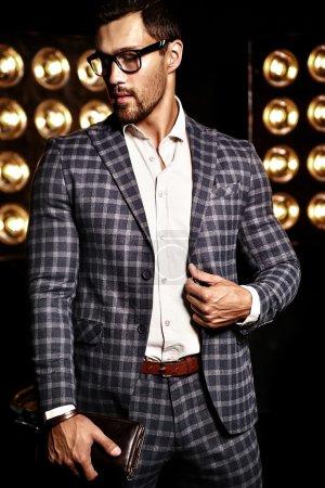Man dressed in elegant suit
