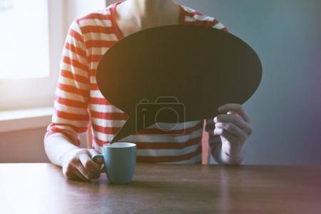 girl holding blank plate