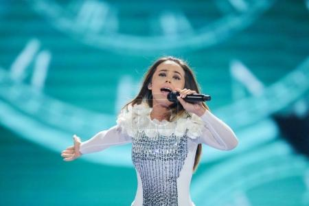 Lindita from Albania at the Eurovision Song Contest