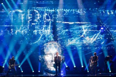 Photo pour KYIV, UKRAINE - 12 MAI 2017 : O.Torvald d'Ukraine à la grande répétition finale du Concours Eurovision de la chanson, à Kiev, Ukraine - image libre de droit