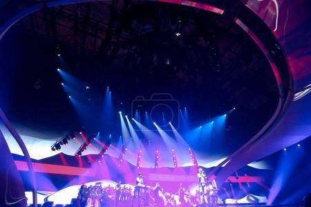 Photo pour KYIV, UKRAINE - 12 MAI 2017 : L'ONUKA d'Ukraine à la grande répétition finale du Concours Eurovision de la chanson, à Kiev, Ukraine - image libre de droit