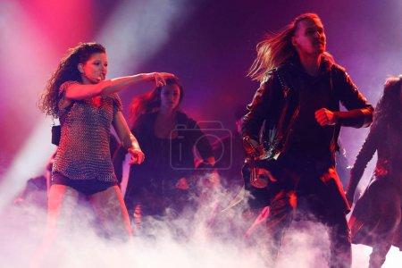 Photo pour Kiev, Ukraine - 12 mai 2017: Ruslana d'Ukraine à la répétition de la grande finale durant le concours Eurovision de la chanson, à Kiev, Ukraine - image libre de droit