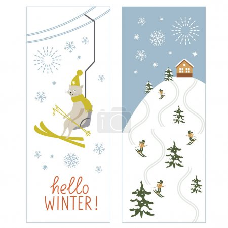 Ski resort winter card