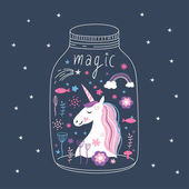 Unicorn fairy tale background