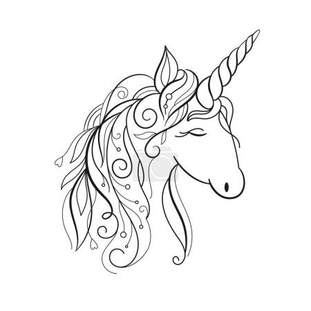 beautiful unicorn, illustration