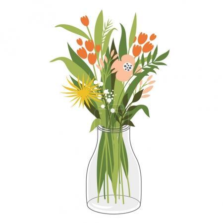 Illustration pour Belles fleurs en pot, illustration, vecteur - image libre de droit