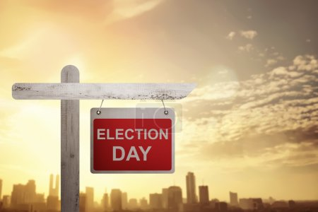 Election Day board sign