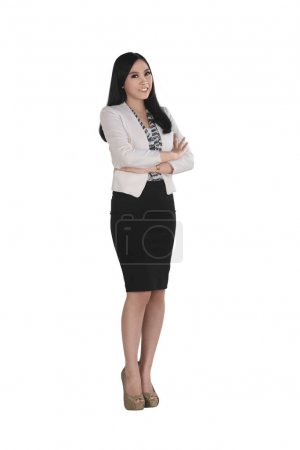 Beautiful asian businesswoman with arms crossed