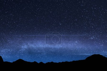 Beautiful shiny star in the sky at Mount Rinjani