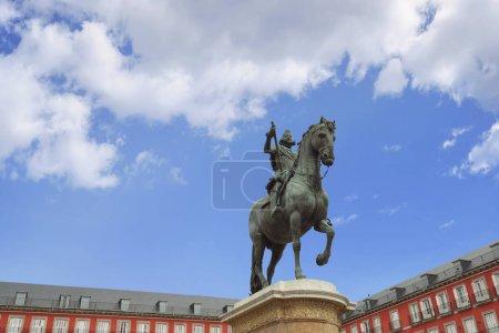 statue King Philips III on Plaza Mayor