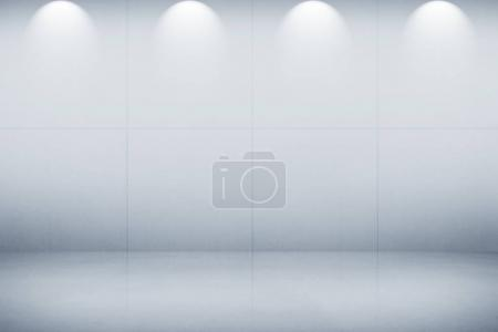 White wall with light