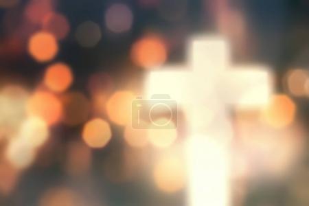 Defocused christian cross