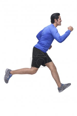 Portrait of asian man with sports clothing running