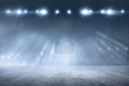 Concrete floor with white lamp spotlight for background