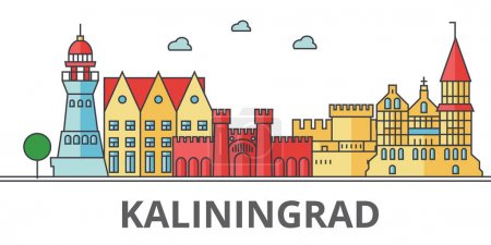Kaliningrad city skyline.